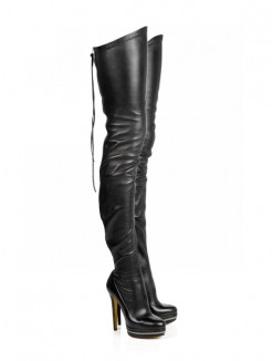 Elastic Leather Boots