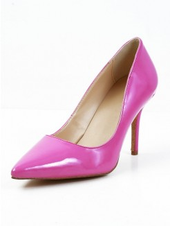 Patent Leather Pointed Toe Rubber High Heels