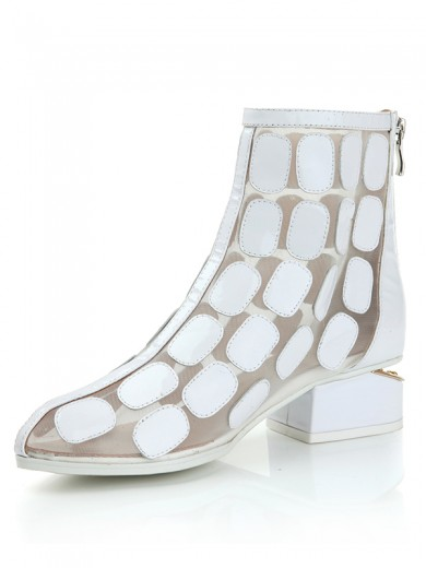 Patent Leather Net Satin Sandals Boots