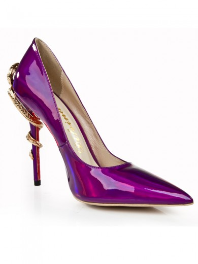Fashion Patent Leather Pointed Toe High Heels