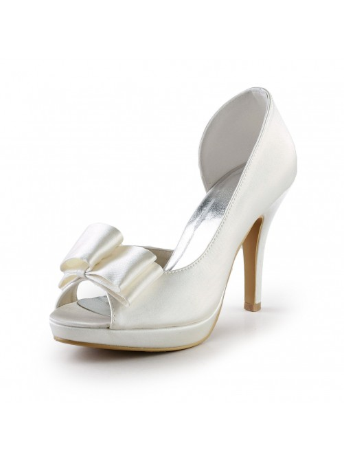 Elegant Handmade Sweet Leather Butterfly Wedding High Heel Shoes