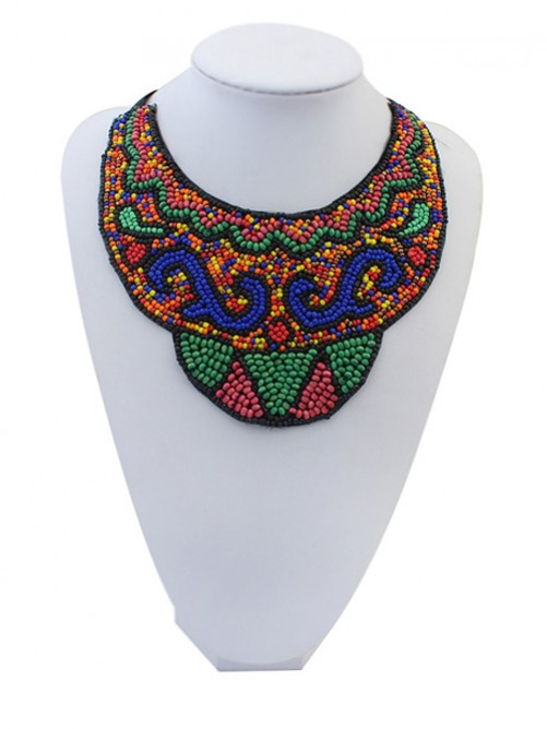 Occident Exotic Personality Retro Necklace-19 J1109723JR