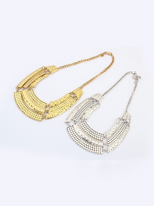 Occident Major Suit Street Shooting Metallic Personality Necklace J1109818JR