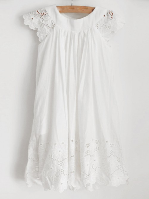 A-Line/Princess Lace Ruffles Sleeveless Scoop Knee-Length Flower Girl Dresses