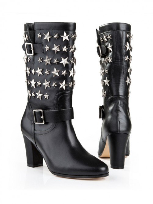 Modest Leather Black Boots