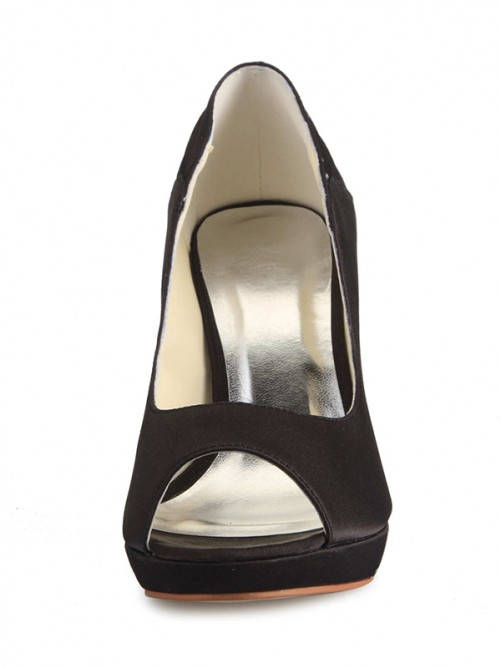 Black Fashion High Heels Party Shoes