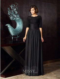 A-Line/Princess Sleeveless Sweetheart Taffeta Applique Floor-Length Mother of the Bride Dress