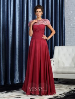A-Line/Princess Sweetheart Chiffon Sleeveless Ruched Floor-Length Mother of the Bride Dress