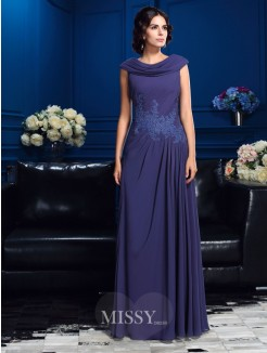 A-Line/Princess Sleeveless Floor-Length Chiffon Mother Of The Bride Dresses