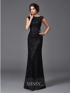 Sheath/Column Beading Sleeveless Scoop Floor-Length Lace Mother of the Bride Dresses