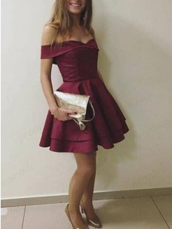 A-Line/Princess Sleeveless Satin Layers Short/Mini Dress