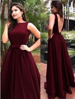 A-Line/Princess Floor-Length Sleeveless Sash/Ribbon/Belt Bateau Velvet Dresses
